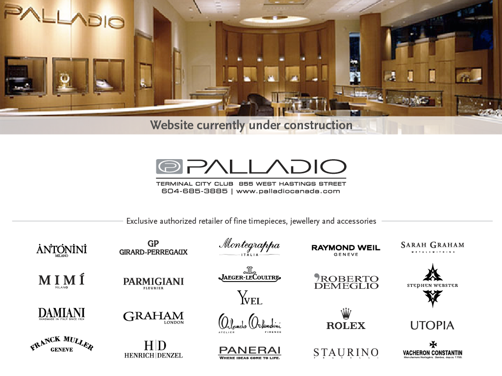 Palladio Canada: Website Currently Under Construction